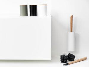 Recycling Wandhalter Klobürste FIRE mit Eichegriff - werkvoll by Lena Peter