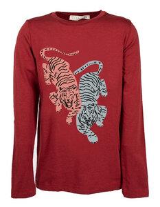 "Kinder T-Shirt aus Eukalyptus Faser ""Aura""   bordeaux mit Druck - CORA happywear"