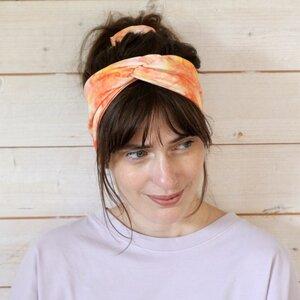 Veganes denkefair Stirnband Batik JERSEY - denkefair