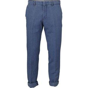 Cotton / Linen Pant dark blue - KnowledgeCotton Apparel