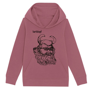 Kinder Hoodie Print | WIKINGER | karlskopf | 85% Bio-Baumwolle - karlskopf