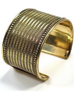 Armreif Fine Weave, goldfarben  - Frida Feeling