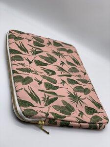Laptoptasche Botanicals Green on Pink - a Love Supreme
