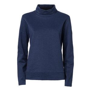 ThokkThokk TT1014 Turtle Neck Sweater Women Dunkelblau Melange - THOKKTHOKK
