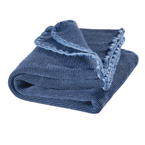 Melange-Babydecke 100x80cm in blau - Disana