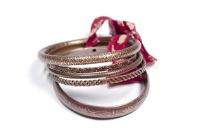 All Around Bangles (5er Set) - Copper - Kalakosh