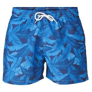 Swim Shorts Palm Print - Estate Blue - KnowledgeCotton Apparel