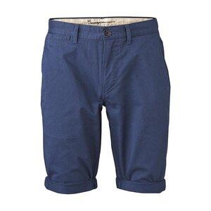 Twisted Twill Shorts - Dark Denim - KnowledgeCotton Apparel