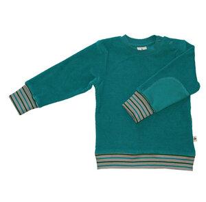 Nicky Sweatshirt Bio-Baumwolle Langarmshirt Pullover Ozeanblau - Leela Cotton