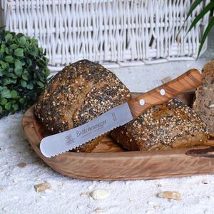 Brötchenmesser mit Olivenholzgriff - Olivenholz erleben