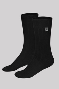 Bio-Business-Socken glatt, 2er Pack, schwarz - Dailybread