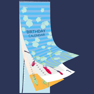 Geburtstagskalender - immerwährend - Salon Elfi