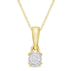 Minimalistische Kette mit synthetischem Diamanten Anso - Eppi