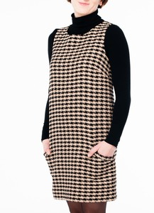 Houndstooth Shift Dress - People Tree