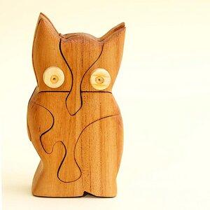 3D Holzpuzzle - Eule - Ecowoods