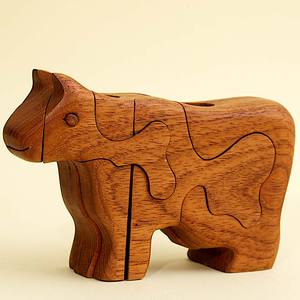 3D Holzpuzzle - Kuh - Ecowoods