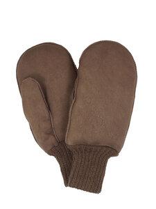 Damen und Herren Lammfell-Handschuhe mit Strickbund - Naturfell Paradies