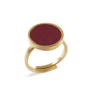 Circle Ring Gold mit Kork | Verstellbarer Ring Rund 18k vergoldet - KAALEE jewelry