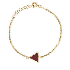 Armkettchen Gold mit buntem Kork | 18k Vergoldet | Anhänger Dreieck - KAALEE jewelry