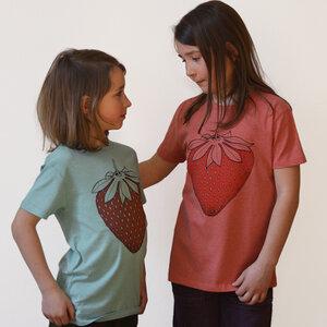 Kinder T-Shirt Erdbeere rot meliert - Cmig