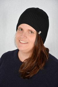 Fleecegefütterte Mütze NACHTWÄCHTER reine GOTS-zertifizierte Merinowolle - Grote Strick