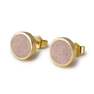 Runde Ohrstecker Gold Kork | Circle Ohrringe Stecker | Geschenke Box - KAALEE jewelry