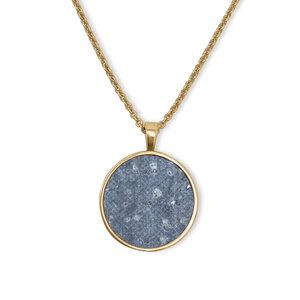 Halskette Gold mit Kork | Circle Anhänger Rund Holz | Geschenke Box - KAALEE jewelry