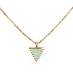 Kurze Halskette Gold mit Kork | 18k Vergoldet | Kettenanhänger Dreieck - KAALEE jewelry