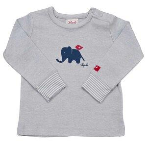 Langarmshirt grau mit Elefanten Print - People Wear Organic