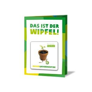 originelle Grußkarte - 10 junge Bäume - OxfamUnverpackt