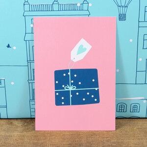 Postkarte Geschenk - Bow & Hummingbird