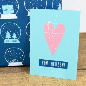 Postkarte Von Herzen - Bow & Hummingbird