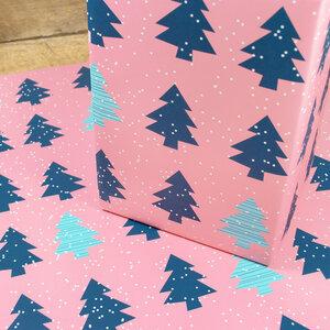 Geschenkpapier Christmas Trees - Bow & Hummingbird