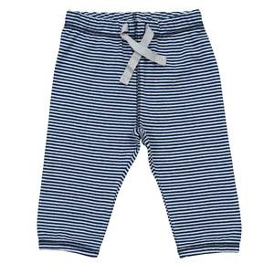 Babyhose blau geringelt - People Wear Organic