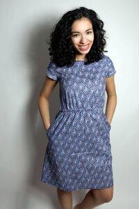 Bio Kleid 'Somrig' blue trees - Frija Omina