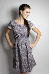 Bio Kleid 'Somrig' Feldblumen braun - Frija Omina