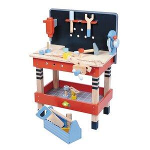 Große Werkbank mit viel Zubehör ab 3 Jahren aus Holz - Tender Leaf Toys
