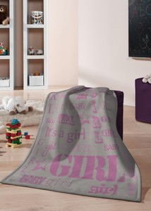 Kinderdecke Kids Cotton  'Girl' Neu  75 x 100 cm - biederlack