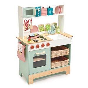 Große Landhausküche Kinderküche mit viel Zubehör ab 3 Jahren aus Holz - Tender Leaf Toys