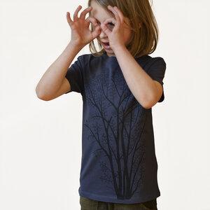 Kinder T-Shirt Erle mit Elster in india ink grey - Cmig