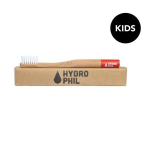 Bambus Kinder Zahnbürste rot - HYDROPHIL