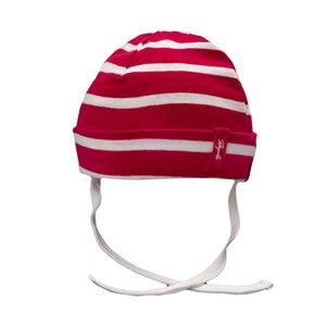 Rot weiß gestreifte Babymütze - People Wear Organic
