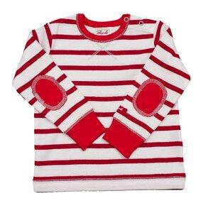 Rot geringeltes Langarmshirt - People Wear Organic