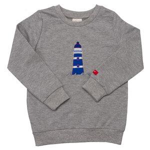 Pullover Grau mit Leuchtturm - People Wear Organic