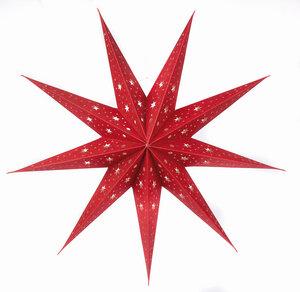 """Weihnachtsdeko """"Faltstern"""" mit Zugband und Kordelstopper aus Papier - El Puente"""