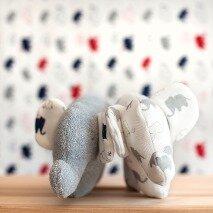 Weiß gemusterter Kuschelelefant - People Wear Organic