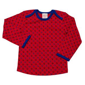 Langarmshirt rot mit Ankermuster - People Wear Organic