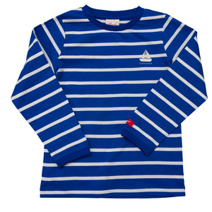 Langarmshirt blau geringelt mit Segelboot - People Wear Organic