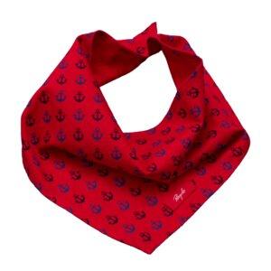 Dreieckstuch rot mit Ankern - People Wear Organic