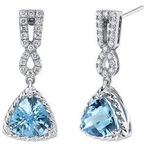 Goldene Ohrringe mit Schweizer Topasen und synthetischen Diamanten Hannah - Eppi